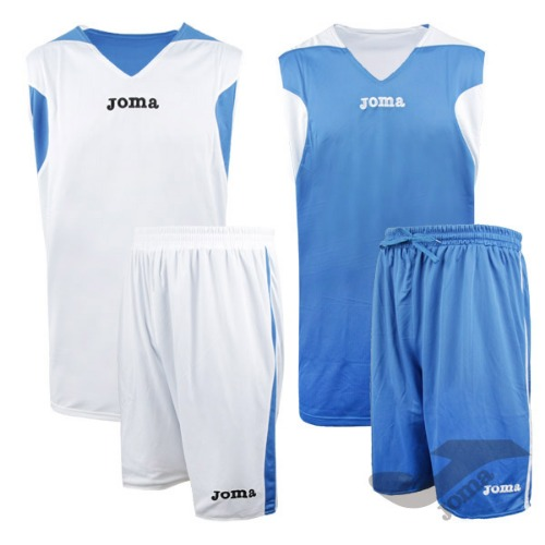 1184.002 BASKETBALL REVERSIBLE SET WHITE/ROYAL